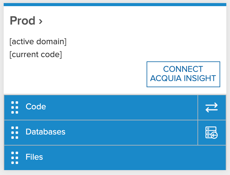 Connect Acquia Insight on Prod environment
