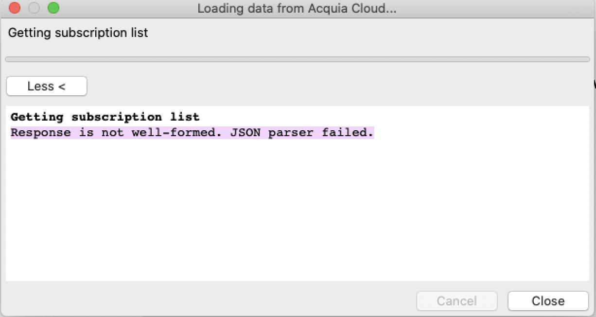 Json parser failed