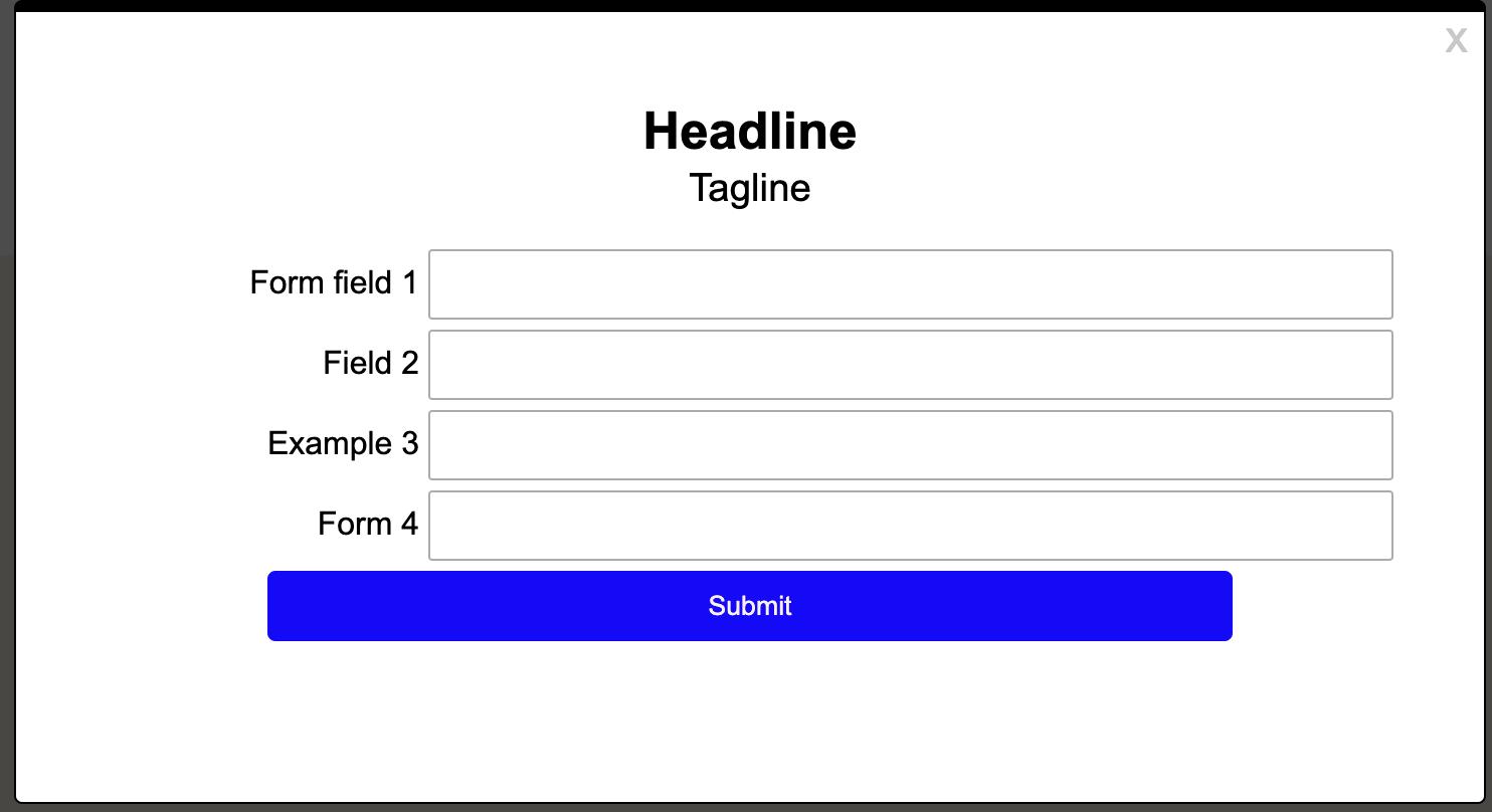 Focus item form right aligned