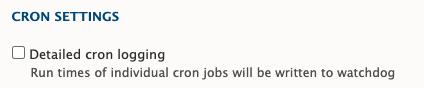 Cron settings