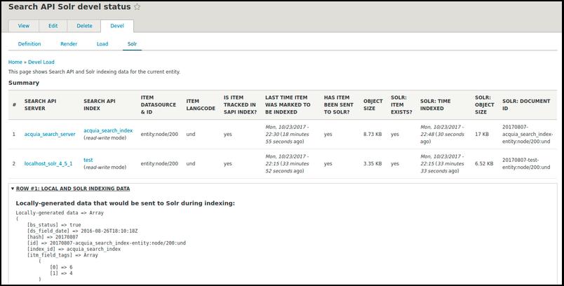 Solr query debugger: Devel status