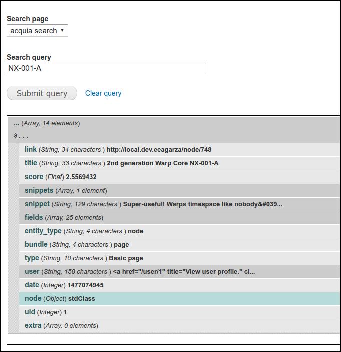 Solr query debugger: Analyze query form