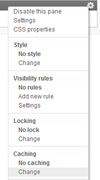 Page Cache Settings