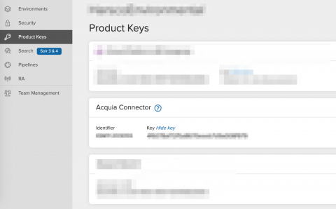 Acquia Connector Keys